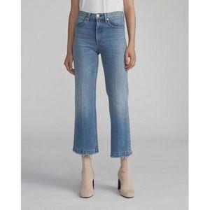 Rag & Bone Justine High Waist Ankle Wide Leg Jeans